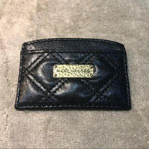Marc Jacobs Quilted Black Card Holder
